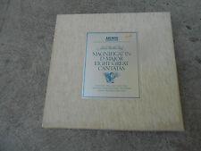 BACH-MAGNICAT-8 CANTATAS-5 LP BOX-BOOK-CLOTH-GERMANY-1ST ARCHIVE SKL 1301/5-NM