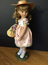 """Spring Bouquet, Marie Osmond porcelain 15"""" doll, Four Seasons, Great for Easter!"""