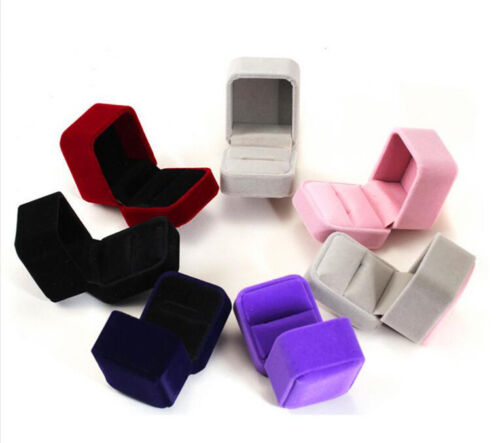 Classic Velvet Engagement Wedding Earring Ring Pendant Jewelry Display Box sm