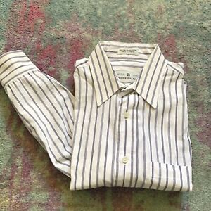 4277028a Pierre Balmain Mens Button-Front Striped Dress Shirt Size 15 1/2 33 ...