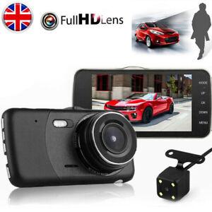 4/'/' HD 1080P Dual Lens Car Dash Cam DVR Front Rear Camera Video Recorder 170 UK