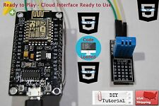 World First WIFI DHT11 NodeMcu ESP-12E Coding Cloud Data Ready Project in 5 mins