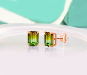 14K-Yellow-Gold-Yellow-Rectangle-Shaped-Citrine-Gemstone-Stud-Earrings-Jewelry