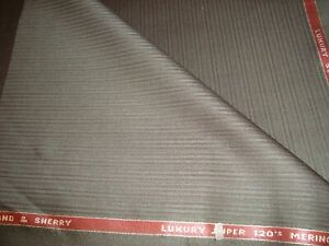 5-5-yd-HOLLAND-SHERRY-WOOL-Super-120s-Merino-FABRIC-8-oz-SUITING-198-034-Brown-BTP