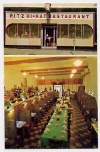 Culpeper Va Ritz Hi Hat Restaurant Postcard Ebay