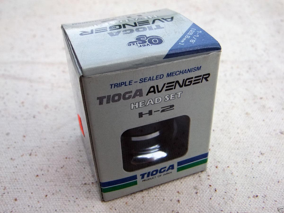 Rare NOS, Old School  BMX, TIOGA Avenger H-2 Head set 1-1 8  (28.6mm), Chrome  global distribution