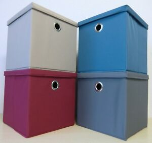 2 X Aufbewahrungsbox Faltbox Regalbox Box Kiste Staubox Deckel 30