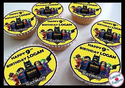 Super Lego Batman Birthday Thank You Edible Personalised Cupcake Personalised Birthday Cards Akebfashionlily Jamesorg
