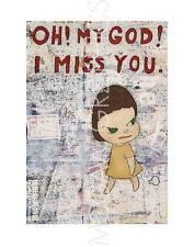 "NARA YOSHITOMO - OH! MY GOD! I MISS YOU!, 2001 - ART PRINT POSTER 14"" x 11""(418)"