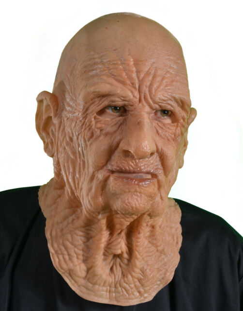 Super Soft Old Dead Man Halloween Full Whole Head Funny Scary Adult Latex Mask