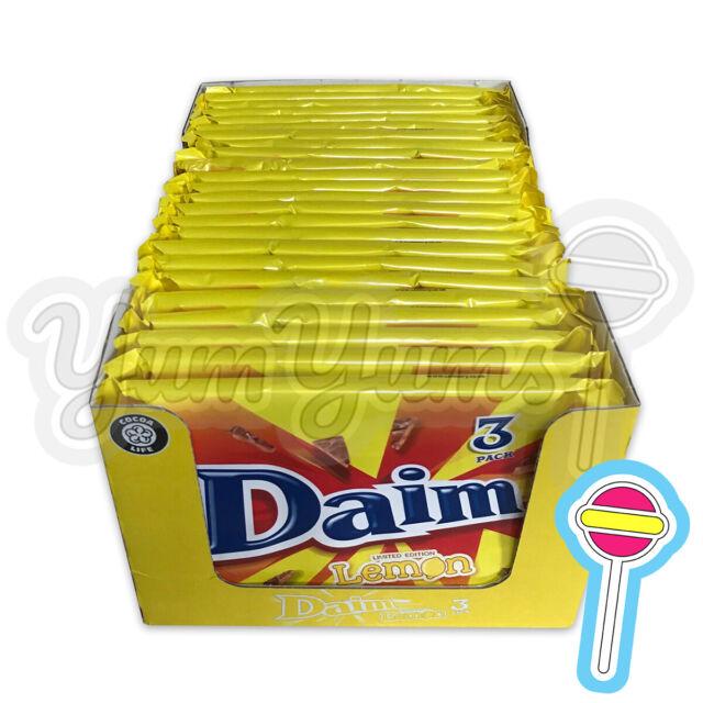 5 x 3 Pack Daim Bar Lemon 28g Limited Edition | 15 Bars Total | BB: 06/07/20