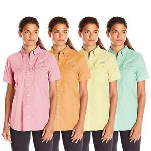 Columbia-Women-039-s-PFG-Bonehead-II-S-S-Woven-Shirt-Retail-35-00