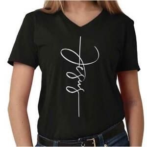 Jesus-Christ-Stylish-Fashion-Religious-Christian-God-Gift-V-Neck-T-Shirt