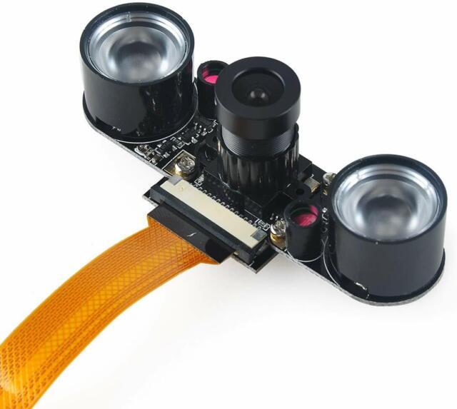 Night Vision IR Surveillance Camera+2Pcs 3W Infrared Light For Raspberry Pi3//2B