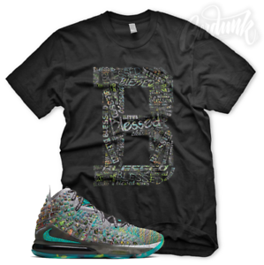 New-034-B-BLESSED-034-T-Shirt-for-Nike-Lebron-17-I-Promise