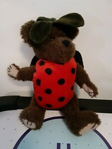 Boyds-Bears-LADY-BUGS-Ladybug-Costume-Bear-Brown-11-034-Jointed-Plush-1999