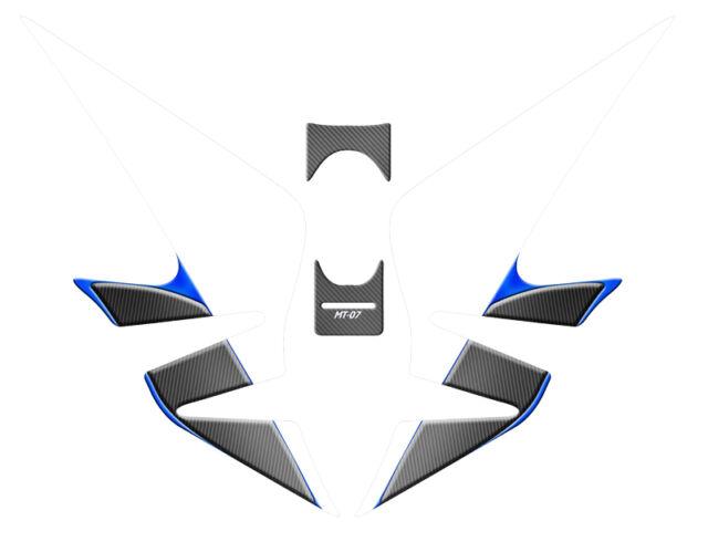 Pastilla Protección Depósito Yamaha MT07 MT 07 2014 2015 2016 Azul