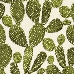 Cactus Carta Da Parati Verdecrema Rasch 441000 Ebay