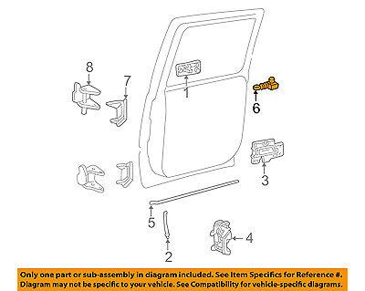 OEM NEW Front Door Lock Lever Knob Switch Right or Left GM Trucks SUVs 15172121