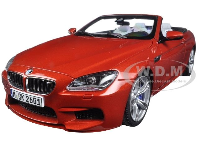 BMW M6 F12M CONverdeIBLE SAKHIR arancia 1 18 DIECAST MODEL CAR BY PARAGON 97063