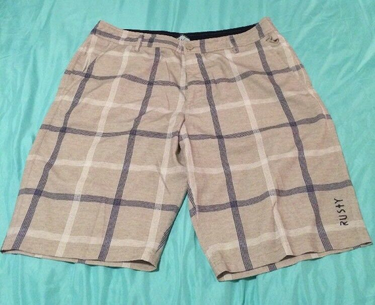 a51509068d8bc8 Rusty Utility Series Water Hybrid Shorts Tan Men s Size 36 TS8 Land ...