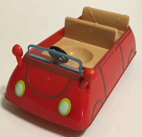 Details about  /Peppa Pig Little Red Car Three Seats With 4 Figures