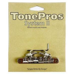 TonePros ABR1 Nashville Replacement Tune-O-Matic Bridge Nickel NVR2-N