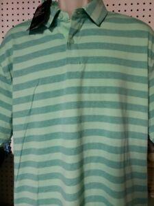 capítulo Derritiendo compensación  Mens Under Armour Polo button down shirt NEW Striped Green Size XL | eBay
