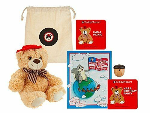 Ivation TeddyHear Wireless Bluetooth Dual Speaker Plush Teddy Bear Soft/&Cuddly!