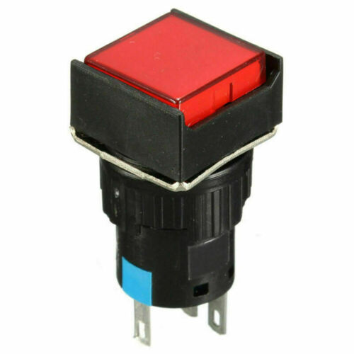 Momentaner Drucktaster LED Druckschalter Knopf Tastschalter Drücker 12V 24V 16mm