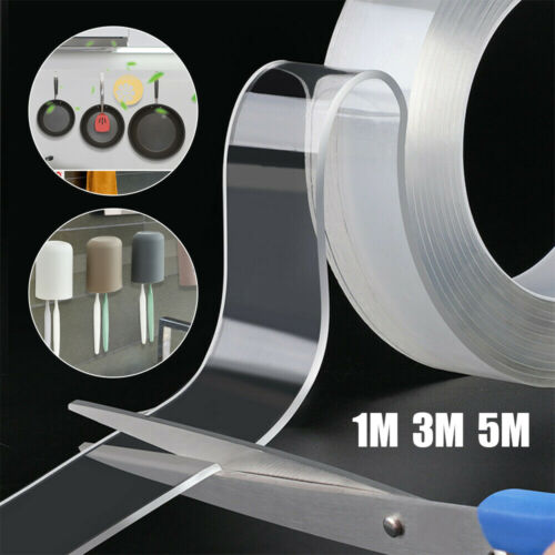 Doublesided Grip Carpet Tape Traceless Washable Adhesive Gel Nano Invisible Tape