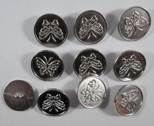 Botón de metal botones 10 piezas de plata mate 22,5 mm grande #1412#