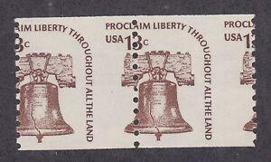 US-Sc-1618-MNH-1975-13c-Liberty-Bell-coil-pair-misperf