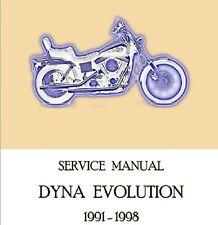 MANUALE OFFICINA HARLEY DAVIDSON DYNA EVOLUTION 1991-1998 WORKSHOP MANUAL CD