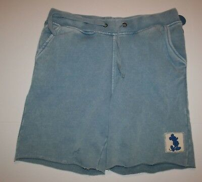 Disney Junk Food Boys/' Mickey Mouse Raw Hem Drawstring Knit Shorts Blue Sz S
