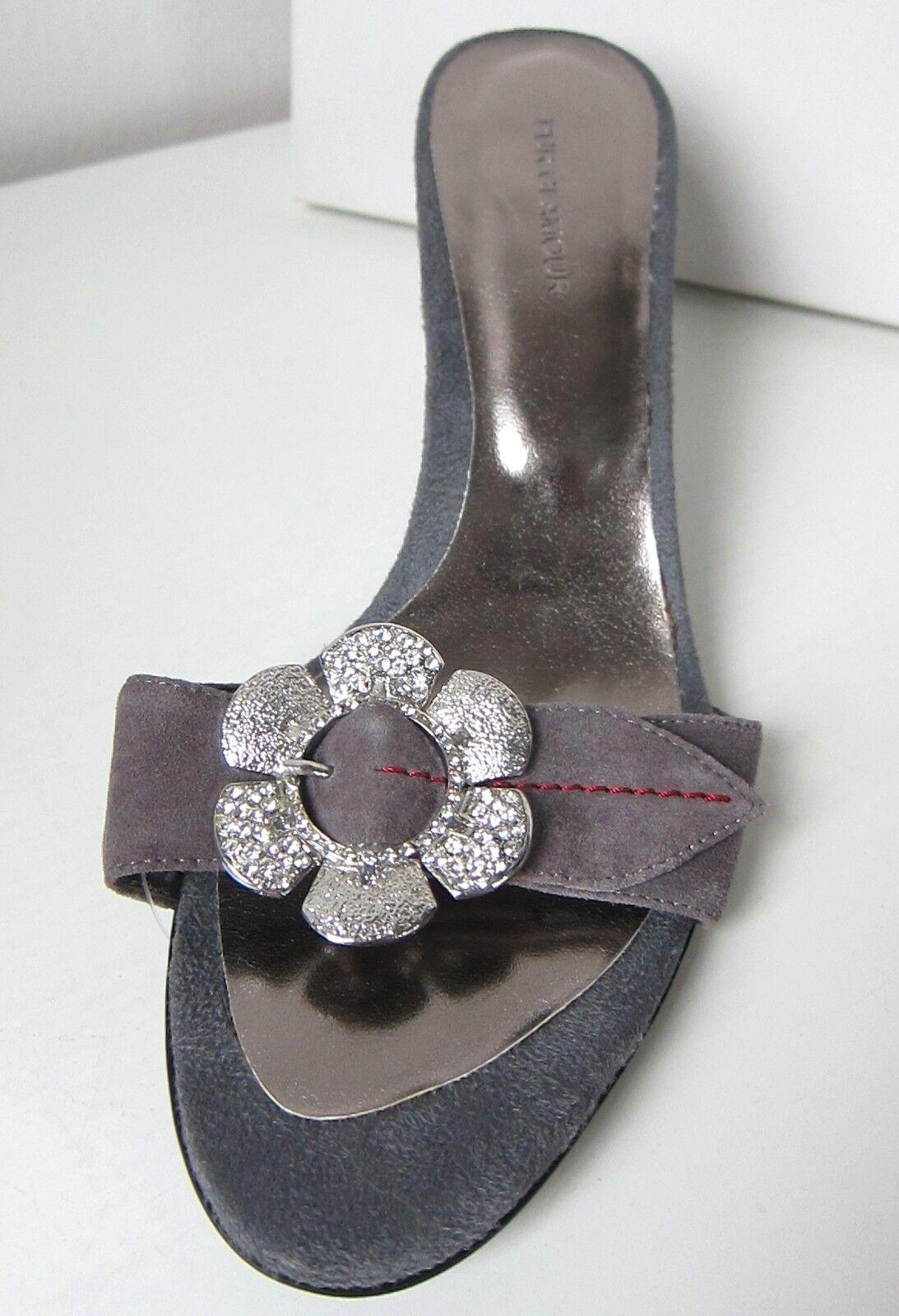Unikat von PUR GLAMOUR Mule Pumps grau hellgrau Gr. 40 Sandals schuhe grau
