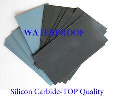 "7 Pc. EXTRA FINE Sandpaper Wet  Dry 3""x 5 1/2"" COMBO 3000/5000/7000/12000 Grit"