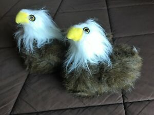 a65926e8 Details about EAGLES Animal Feet Happy Feet Childrens House Slippers In  Size Kids Large