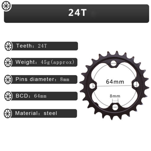 24//26//32//38//42 Double//Triple 104//64BCD Chainring Crankset Sprocket Mountain Bike