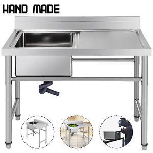 Lavello Cucina Gocciolatoio Destra 100x60 Cm Lavelli Gamba Del Tavolo Lavatoio Ebay