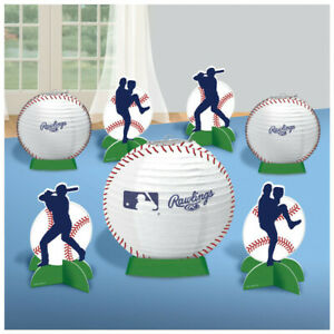Details About BASEBALL RAWLINGS Party Decorations Table Decorating Kit  Centerpiece Sports Ball