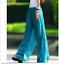 Summer-Bohemia-Chiffon-Bohemia-Women-Casual-High-Waist-Beach-Loose-Pants-Shirt thumbnail 14