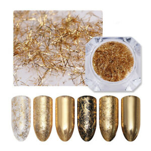 0-2g-Gold-Nagel-Streife-3D-Nail-Art-Dekoration-Metall-Wire-Linie-BORN-PRETTY