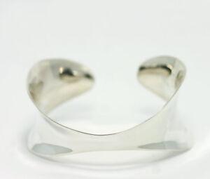 Robert-Lee-Morris-RLM-Sterling-Silver-Free-form-Graduated-Cuff-Bracelet-7-034