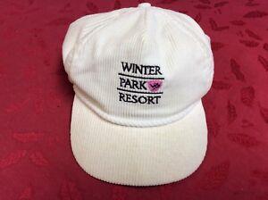 a005d35a0ce Vintage Winter Park Resort Colorado Hat Strapback Cap White Corduroy ...