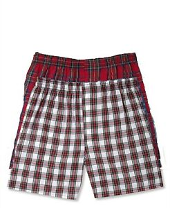 c738fb90bbc9 Details about $58 HANES UNDERWEAR MEN'S WHITE RED COTTON TAGLESS COMFORT WOVEN  BOXERS 2 PACK M