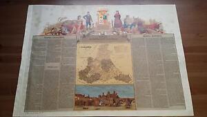 1875 MAPA Provincia de Zaragoza, Juan Bruil, Cromo Boronat y Satorre