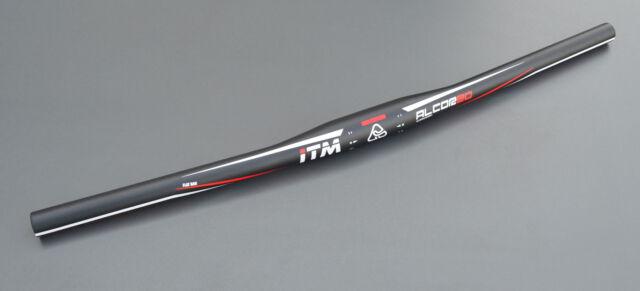 Flat Mountainbike Lenker ITM Alcor 80 in 31.8mm 620mm in schwarz matt