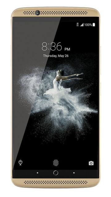 Brand New ZTE Axon 7 (A2017) Unlocked 128GB Gold Dual SIM 20MP 5.5'' RAM 6GB