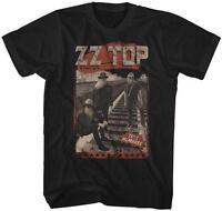 Tres Hombres Zz Top Classic Rock Band Licensed Concert Tour Adult Black T-shirt
